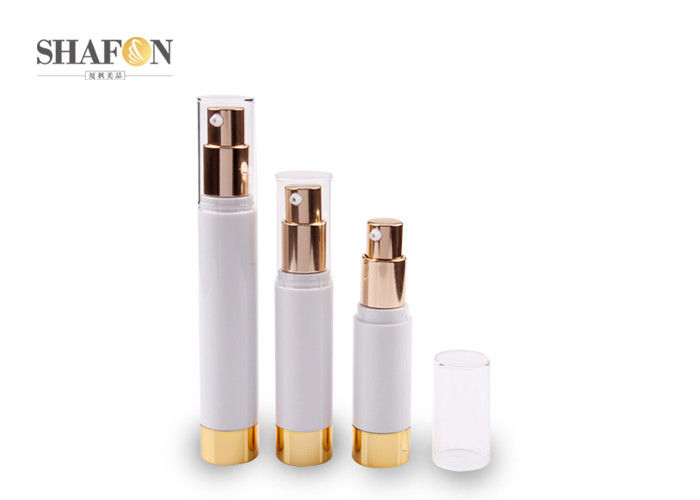 Refillable Plating Gold Airless Cosmetic Bottles 15ml / 20ml Eco - Friendly